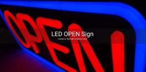LED OPEN Schild